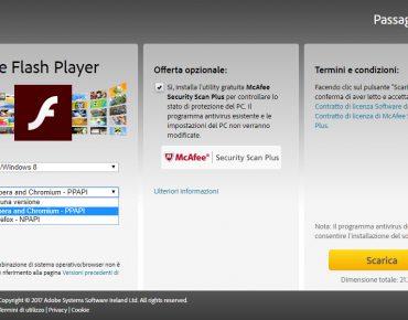 Acquisire sito web con Flash